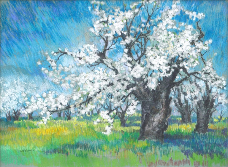 Cherry Blossoms Landscape - Art by Therese Nolan Krassowski