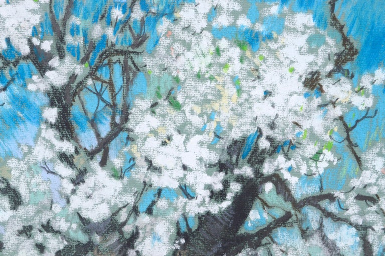 Cherry Blossoms Landscape - American Impressionist Art by Therese Nolan Krassowski