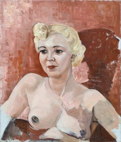 Portrait of a Nude Blonde Woman
