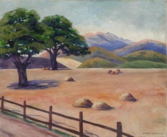 Golden California Foothills with Oaks Landscape
