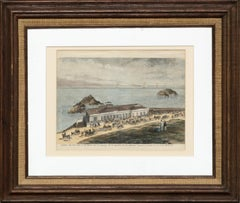 The Cliff House, San Francisco - Hand Colored Engraving