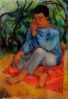 Seated Boy figurative