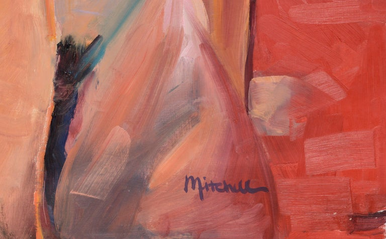 Reclining nude by Mitchell (20th Century). Signed