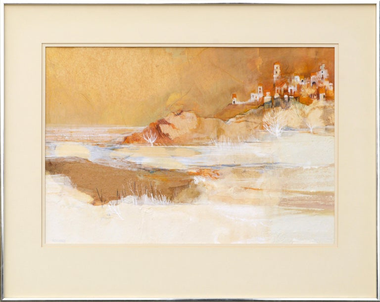 """Grace Eichholz Landscape Painting - """"Morning Bay"""" Landscape Abstract"""