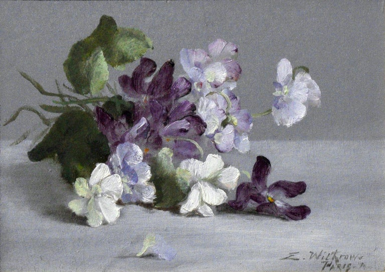Small Flowers - Painting by Evelyn Almond Withrow