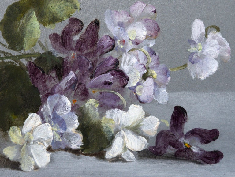 Small Flowers - American Realist Painting by Evelyn Almond Withrow
