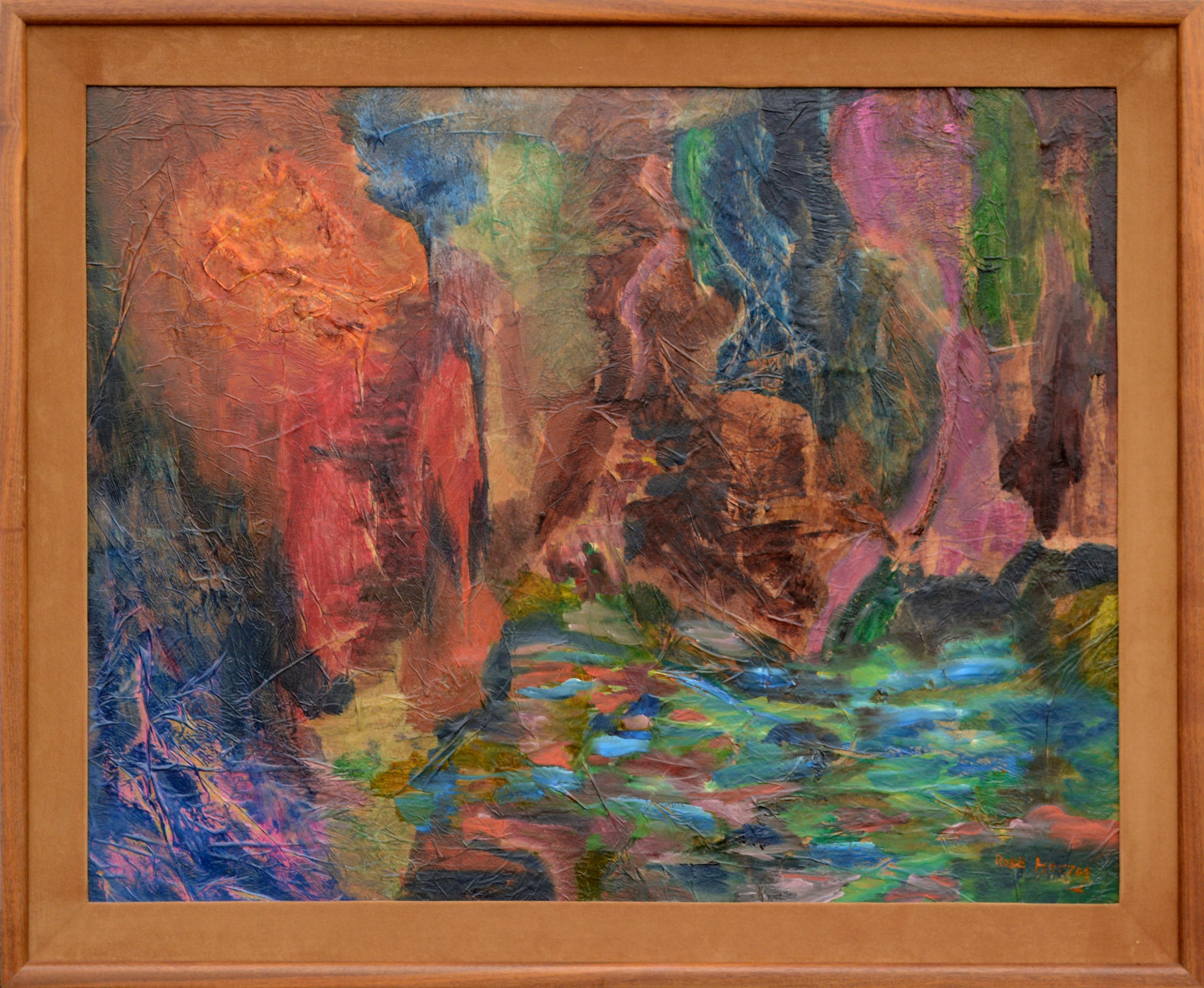 Shimmering Pond in the Woods Abstract 1960