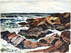 Ocean Study and Rocks Seascape