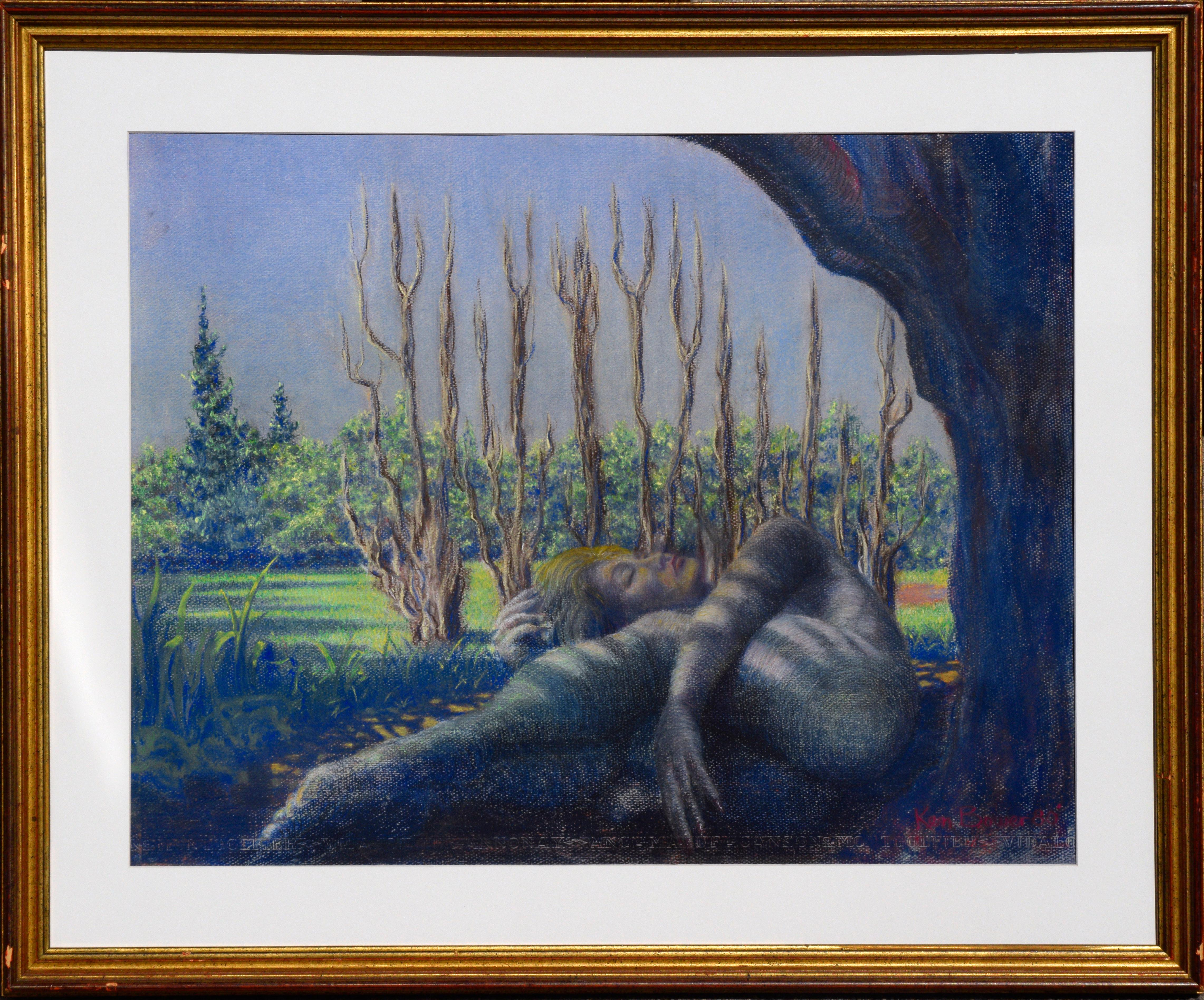 Sleeping Among the Trees -  Figurative Landscape
