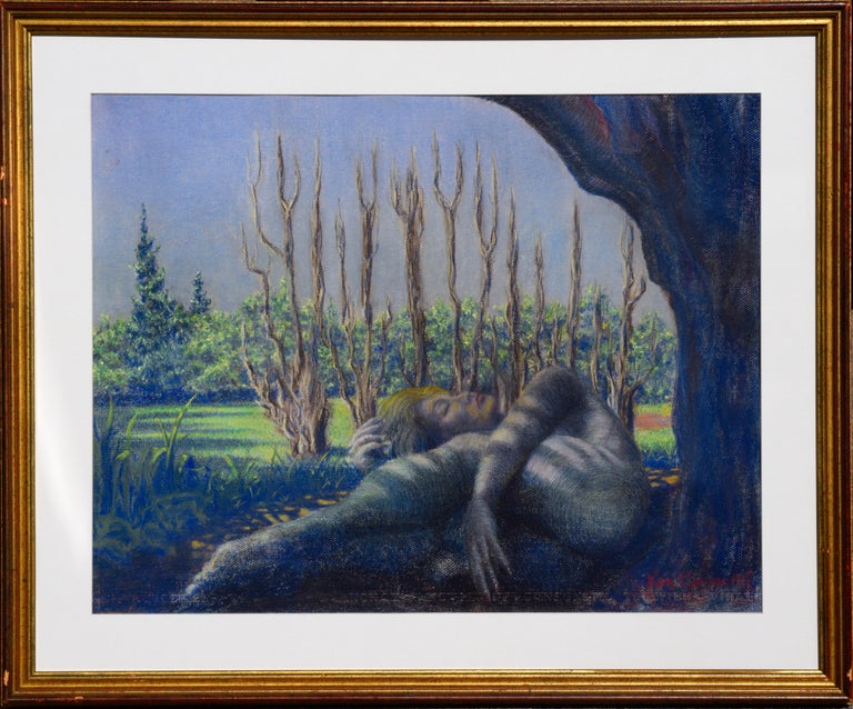 Ken Bower Figurative Art - Sleeping Among the Trees