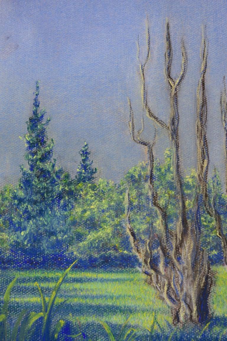 Sleeping Among the Trees - Gray Figurative Art by Ken Bower