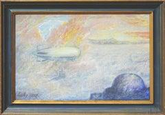 Zeppelin Over San Francisco Landscape