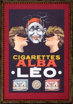 Original Alba Leo Cigarettes Poster