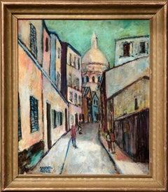 Mid Century Italian Street Scene Landscape