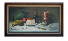 Fruit, Cheese and Grand Marnier Still Life