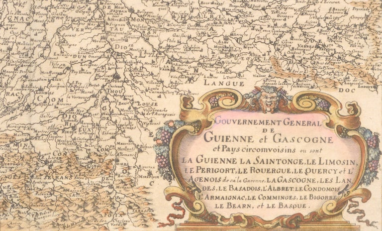 Guienne et Gascogne (Hand-Colored Map of French Provinces) 3