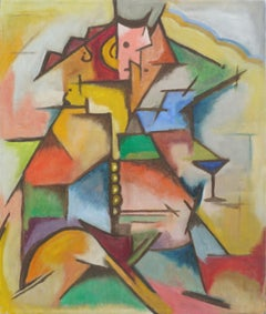 """Cubist Abstract """"Happy Hour"""""""