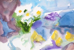 Abstract White and Yellow Flowers - Still Life