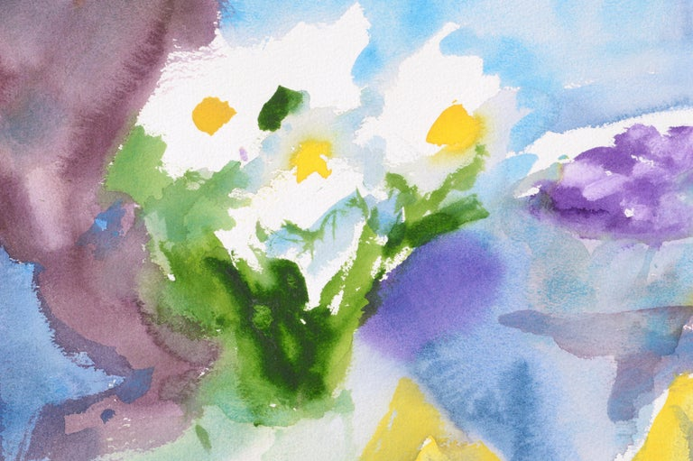 Abstract White and Yellow Flowers - Still Life For Sale 3