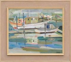 """Moss Landing"" Harbor Landscape"