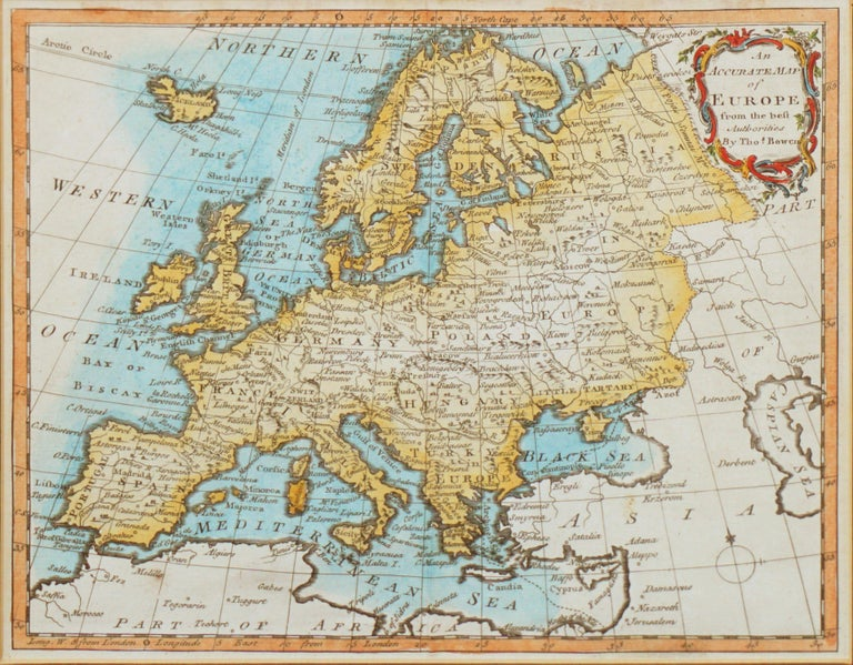18th Century Accurate Map of Europe For Sale 1