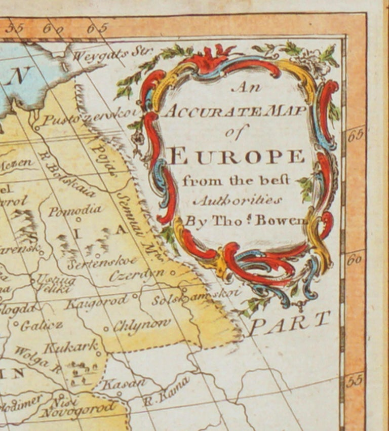 18th Century Accurate Map of Europe For Sale 2