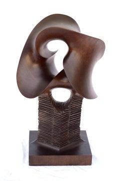"""MOBIUS"" Flowing Wood Sculpture Fred Schumm"