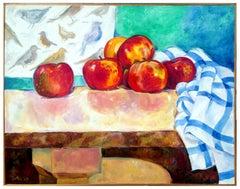 Apples and Birds Still Life