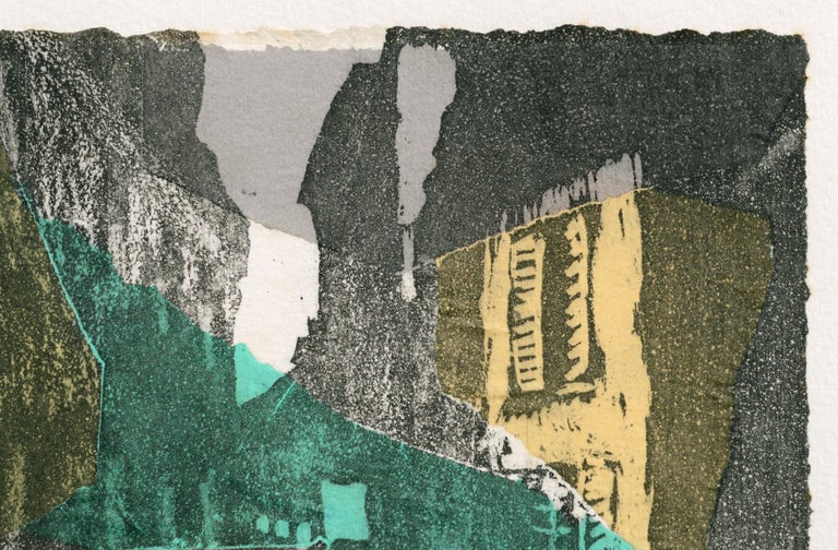 Abstract Cityscape - Black Landscape Print by Julia Pitcher