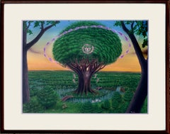 Tree of Life in the Garden - Visionary art by Tom Fath