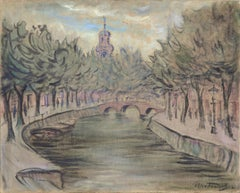 Canal Cityscape Paris by Max Fleischer