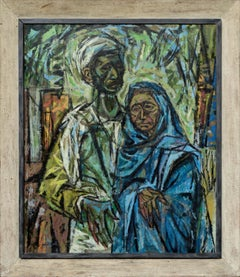 """""""Faith"""" - Portrait of a Middle Eastern Couple, Exhibited Artists Equity New York"""