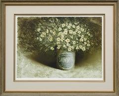 """""""Mountain Boquet"""" - Wildflowers in Snowdrift Shortening Can"""
