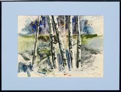 Birch Trees - Landscape by John Salminen