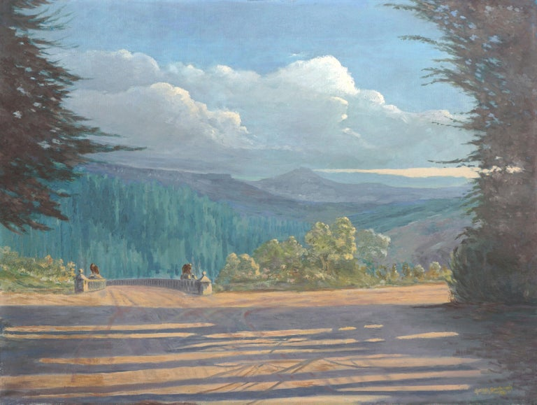 Norman Gainsborough Landscape Painting - Lake Tahoe Overlook