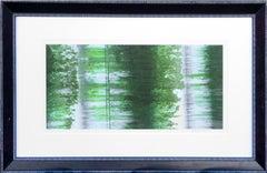Green Abstracted Ikat Photograph