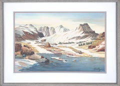 High Sierra Lake Watercolor Landscape by Harold E. Holly, AWS