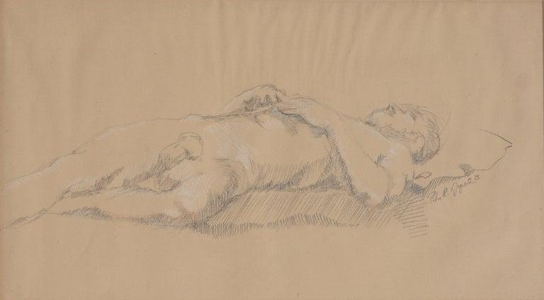 Prone Male Nude Study - Art by Peter R Gyesal