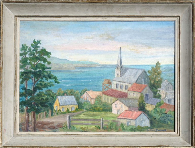 Esther Roebuck Landscape Painting - Early 19th Century Santa Cruz Landscape