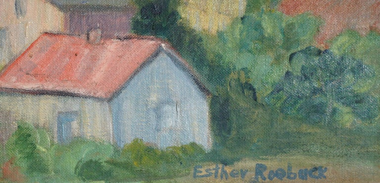 Early 19th Century Santa Cruz Landscape - American Impressionist Painting by Esther Roebuck