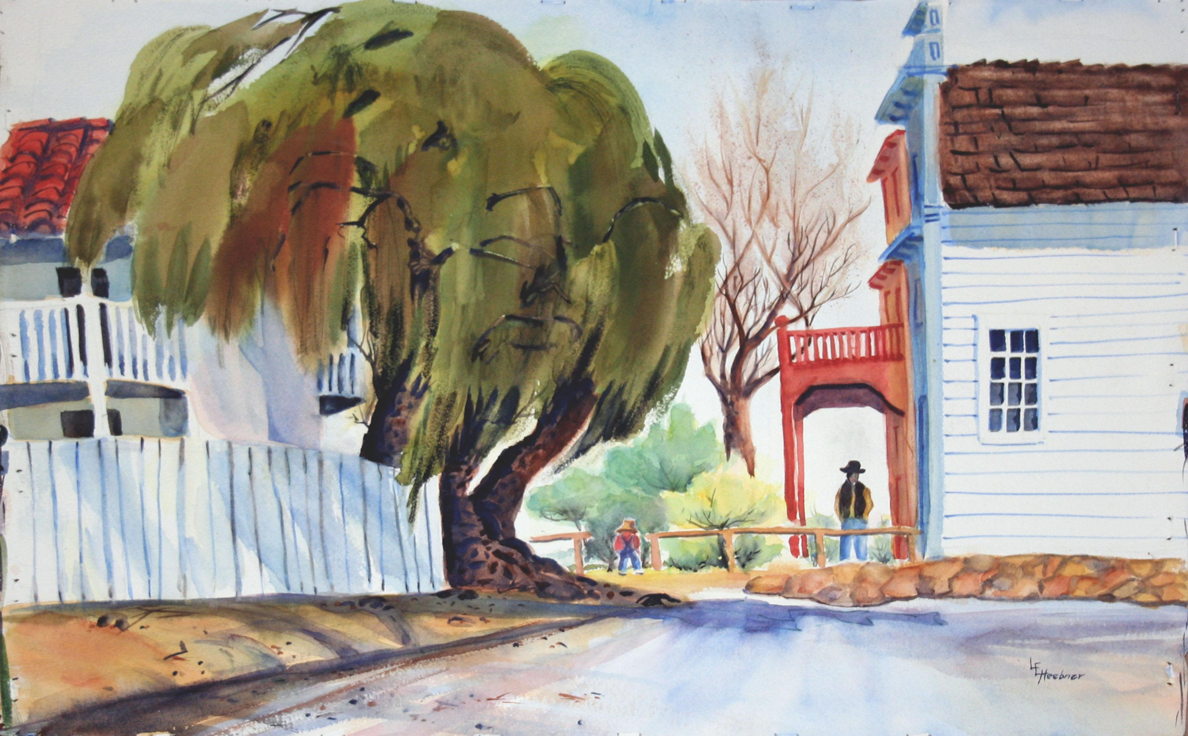 Gold Rush Town Columbia, California Landscape by Lillie Heebner