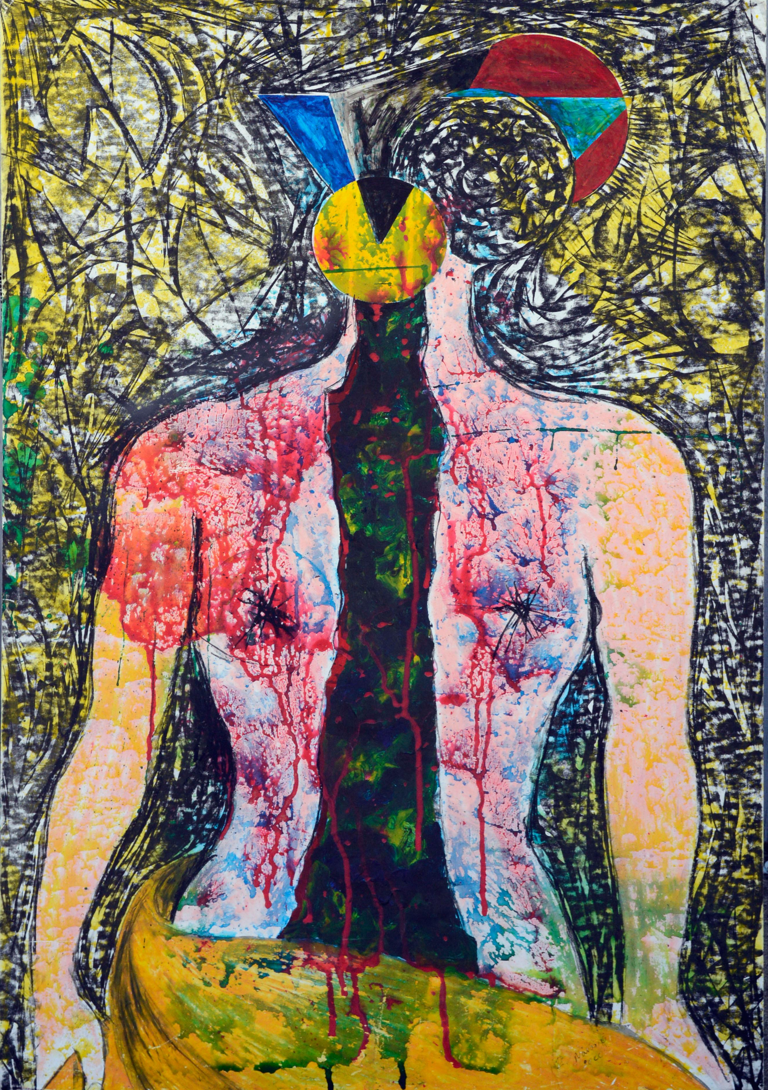 Abstract Figure Woman Emerging