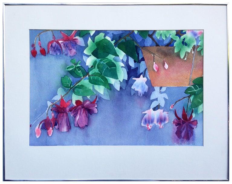 Rose Sloan  Landscape Painting - Hanging Fuchsia Still-Life