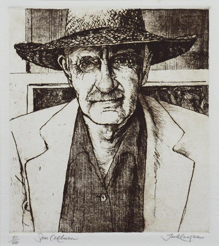 Portrait of Sam Colburn Carmel Artist - Print by Jack Coughlin