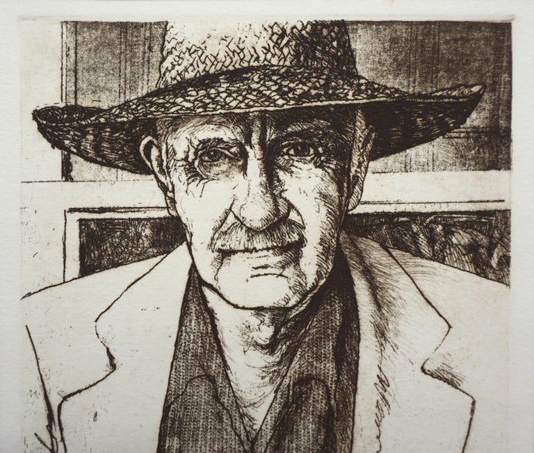 Portrait of Sam Colburn Carmel Artist - Realist Print by Jack Coughlin