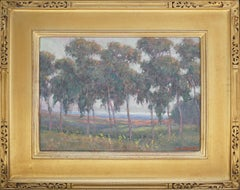 Eucalyptus Flower Field Coastal Landscape by William Dorsey