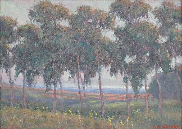 Eucalyptus Flower Field Coastal Landscape by William Dorsey For Sale 1