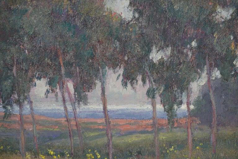 Eucalyptus Flower Field Coastal Landscape by William Dorsey For Sale 2