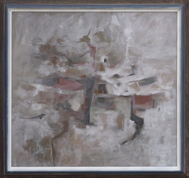 Corban Lepell Figurative Painting - Mid Century Modern Silver Linings Abstract by Corban LePell