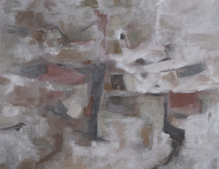 Mid Century Modern Silver Linings Abstract by Corban LePell - Abstract Expressionist Painting by Corban Lepell